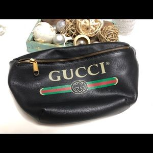 Gucci Belt Fannypack Black Bag Crossbody